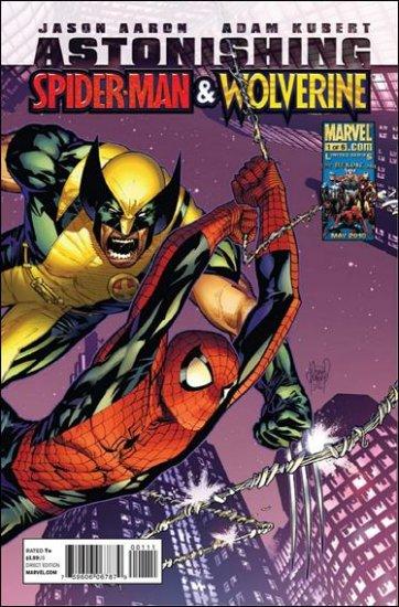 ASTONISHING SPIDER-MAN & WOLVERINE #1 NM (2010)