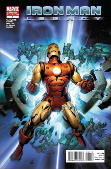 IRON MAN LEGACY #1 B COVER NM (2010)