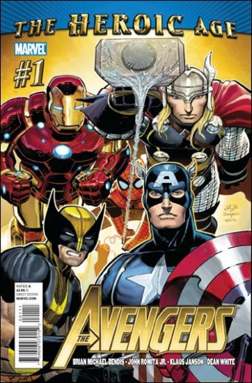 AVENGERS #1 NM (2010) ** THE HEROIC AGE**