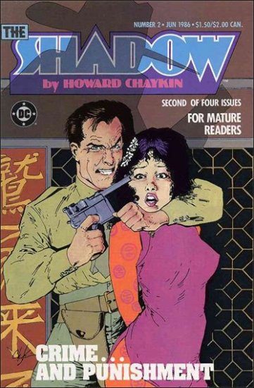 SHADOW #2 VF/NM 1986 MINI SERIES BY HOWARD CHAYKIN