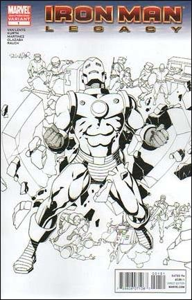 IRON MAN LEGACY #1 E COVER NM (2010) 2ND PRINT VARIANT