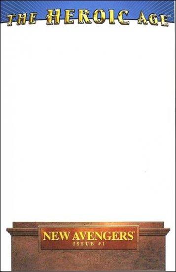 NEW AVENGERS #1 NM (2010) VOL 2  BLANK COVER VARIANT