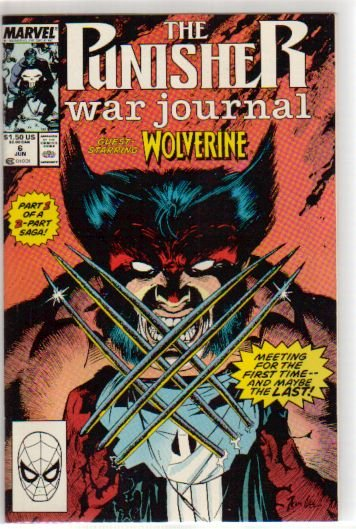 PUNISHER WAR JOURNAL #6 VF/NM  (1988) WOLVERINE