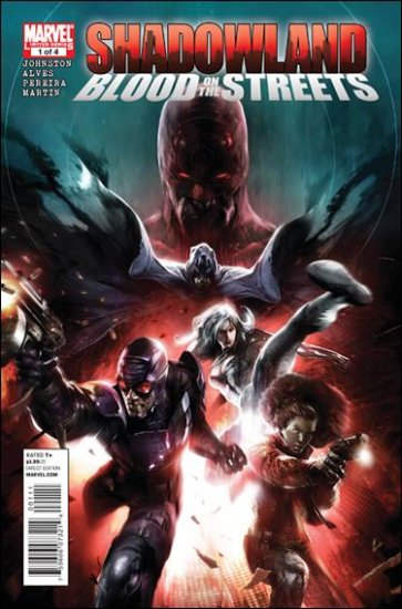 SHADOWLAND: BLOOD ON THE STREETS COMPLETE TRADE SET #1, 2, 3, 4 VF/NM (2010)