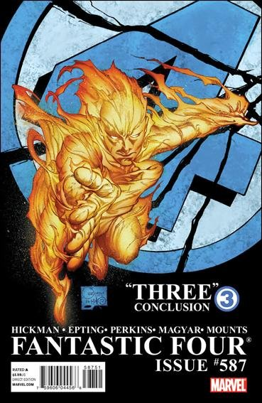 FANTASTIC FOUR #587 NM (2011) 2ND PRINT QUESADA COVER VARIANT