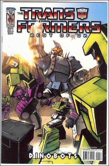 """TRANSFORMERS BEST OF THE UK - DINOBOTS #6  """"A"""" COVER  VF/NM"""