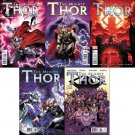 MIGHTY THOR #1, 2, 3, 4, 5 w/ Bonus Poster (2011) NM *Trade Set*