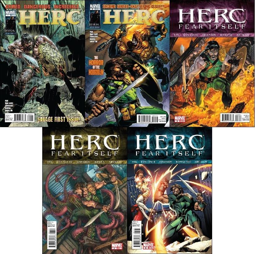 HERC #1, ,2, 3, 4, 5 *FEAR ITSELF TIE-IN* NM (2011) *Trade Set*