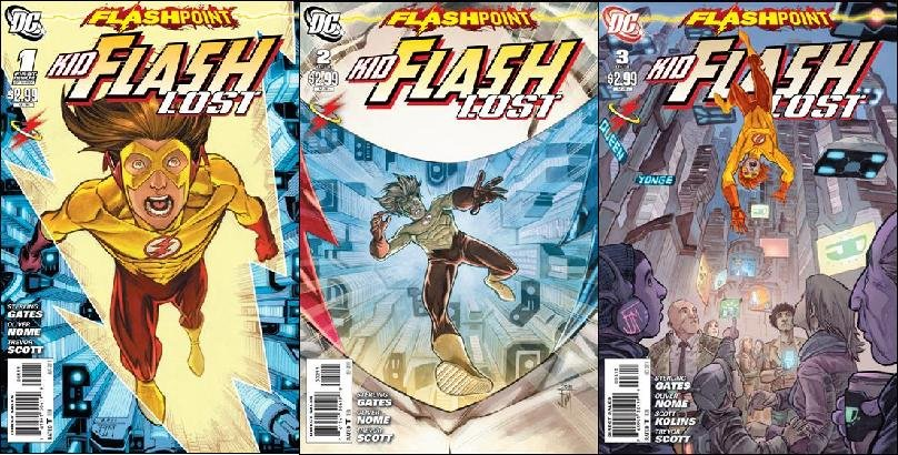 FLASHPOINT KID FLASH LOST #1-3 COMPLETE TRADE SET (2011) NM