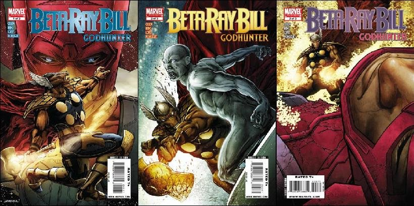 MARVEL BETA RAY BILL GOD HUNTER #1-3 VF/NM COMPLETE SET OF 3 (2009)