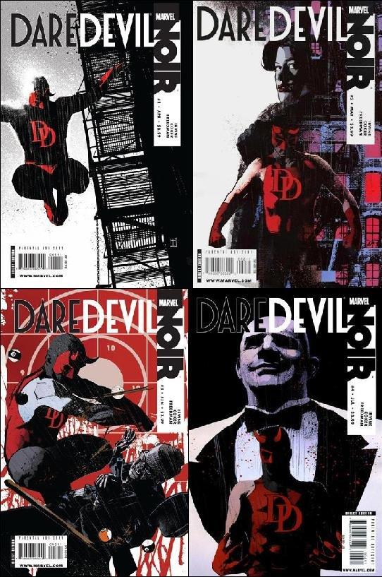 DAREDEVIL NOIR #1,2, 3, 4 Regular Editons VF/NM *Complete Set*