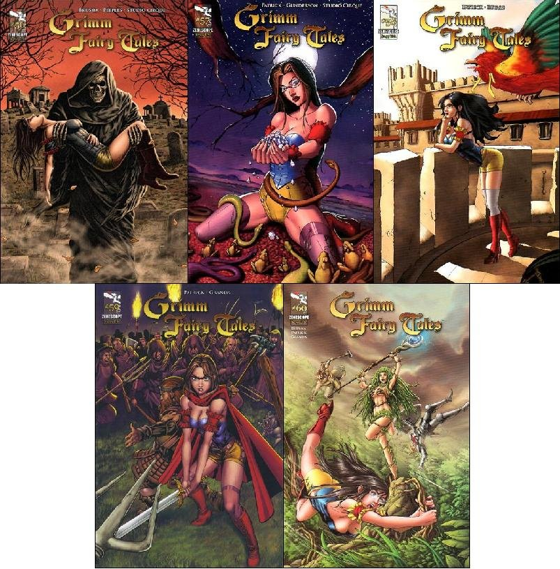 GRIMM FAIRY TALES #56, 57, 58, 59, 60 VF/NM *Trade Set*