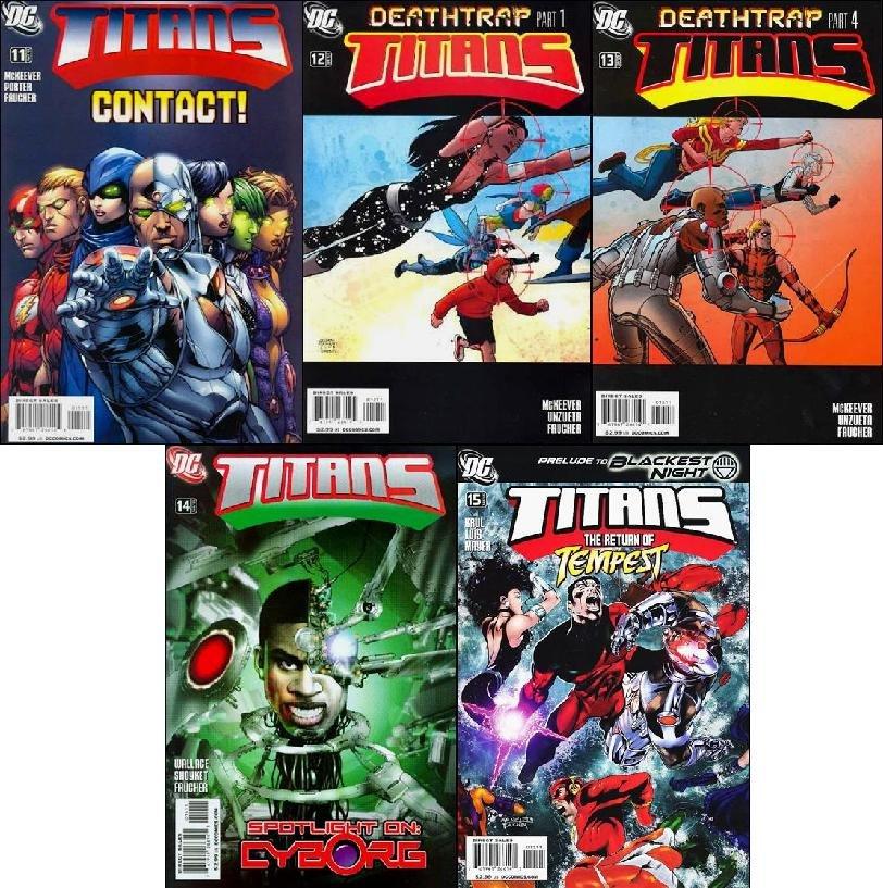 TITANS #11, 12, 13, 14, 15 VF/NM (2009) *Trade Set*