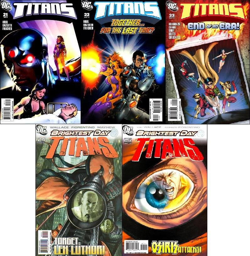 TITANS #21, 22, 23, 24, 25 VF/NM (2010) Trade Set