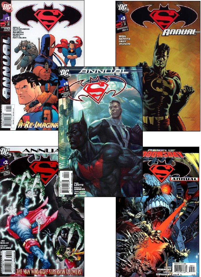 SUPERMAN BATMAN ANNUAL #1 - 5 VF/NM *COMPLETE SET OF 5 ISSUES* (2011)