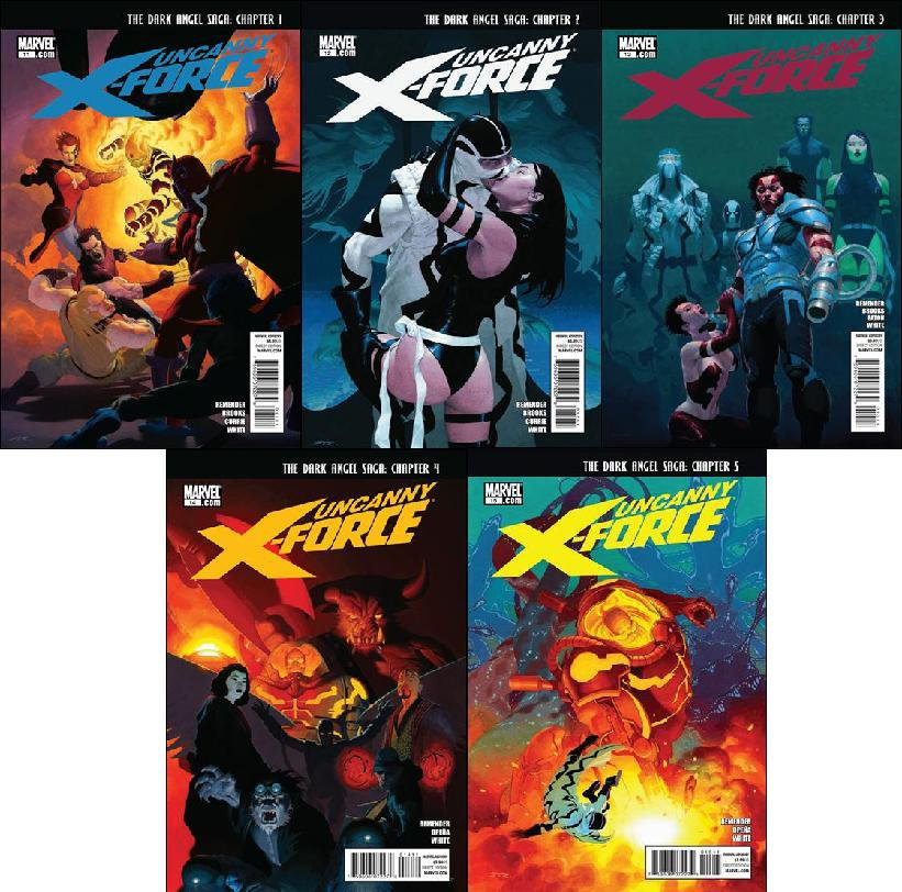UNCANNY X-FORCE #11 - 15 NM (2011) *COMPLETE SET OF 5 ISSUES*