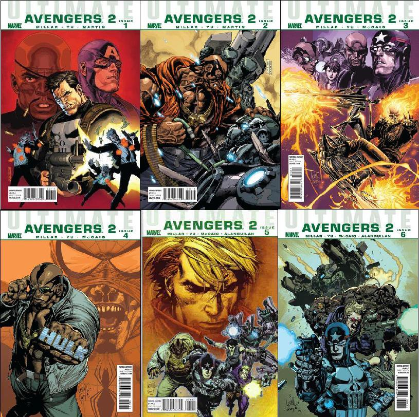 ULTIMATE AVENGERS 2 #1, 2, 3, 4, 5, 6 VF/NM *Complete Set*
