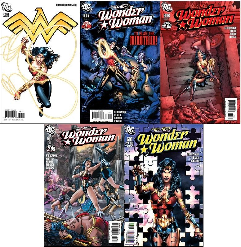 WONDER WOMAN #606 - 610 VF/NM *COMPLETE SET OF 5 ISSUES* (2011)