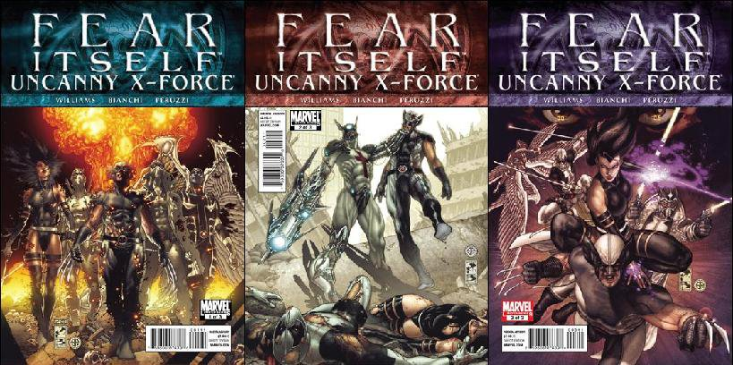 FEAR ITSELF UNCANNY X-FORCE #1, 2, 3 [2011] VF/NM *Complete Set*