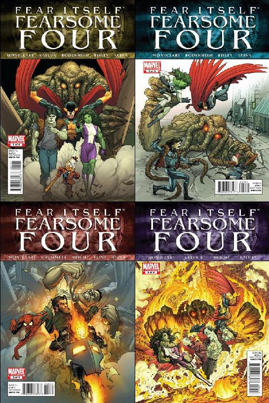 Fear Itself: Fearsome Four #1, 2, 3, 4 [2011] *Complete Set*