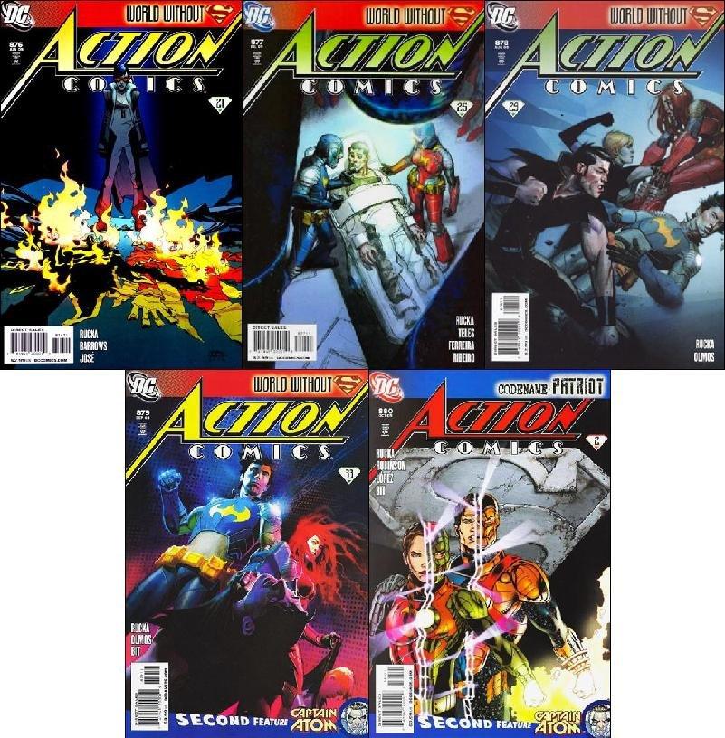 ACTION COMICS #876, 877, 878, 879, 880 [2009] VF/NM *Trade Set!*