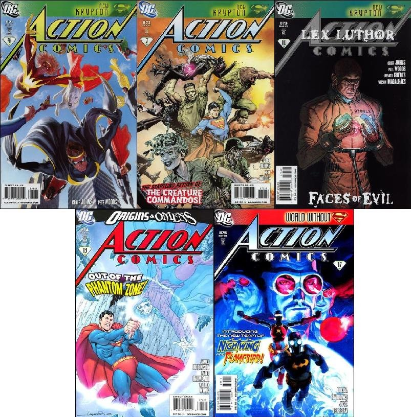 ACTION COMICS #871, 872, 873, 874, 875 [2009] VF/NM *Trade Set*