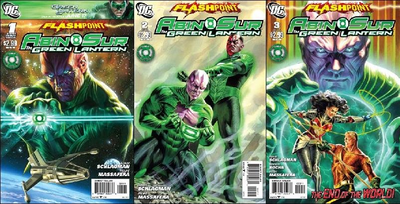 FLASHPOINT ABIN SUR THE GREEN LANTERN #1 - 3 NM (2011) *COMPLETE SET OF 3 ISSUES*