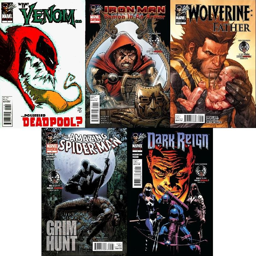 WHAT IF VENOM POSSESSED DEADPOOL? SET NM (2011) *COMPLETE SET OF 5 ISSUES*