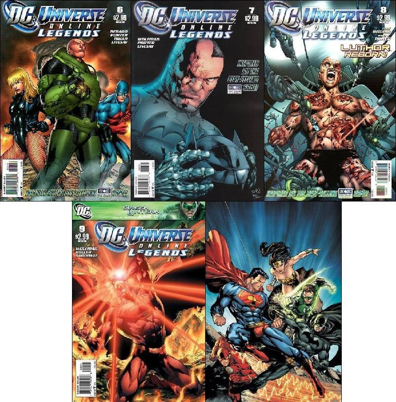 UNIVERSE ONLINE LEGENDS #5 - 10 VF/NM *COMPLETE SET OF 5 ISSUES*