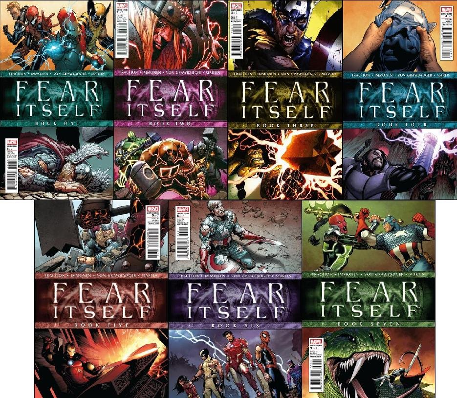 Fear Itself #1 -7 w/Bonus: Fear Itself Poster NM (2011) *Complete Set OF 7 ISSUES*