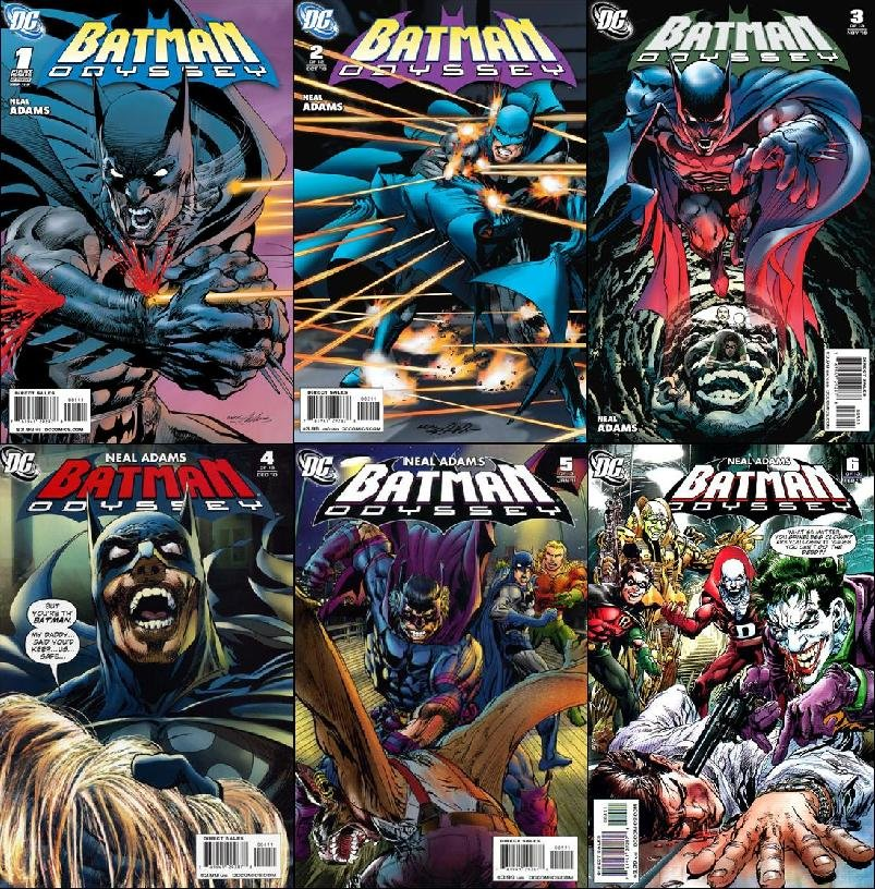 BATMAN ODYSSEY #1, 2, 3, 4, 5, 6 (2009) VF/NM *COMPLETE SET*