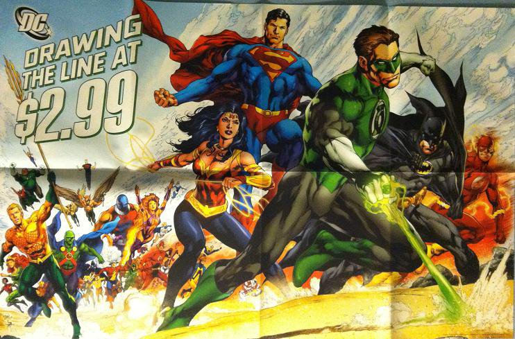 """DC """"DRAWING THE LINE"""" (2011) PROMO POSTER"""