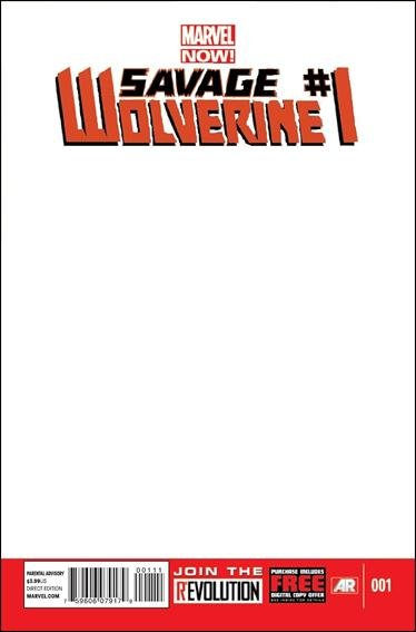 Savage Wolverine (Vol 1) #1 Blank Variant (2013) VF/NM *Marvel Now*