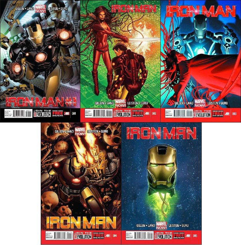 Iron Man [2013] #1, 2, 3, 4, 5 VF/NM *Marvel Now Trade Set*