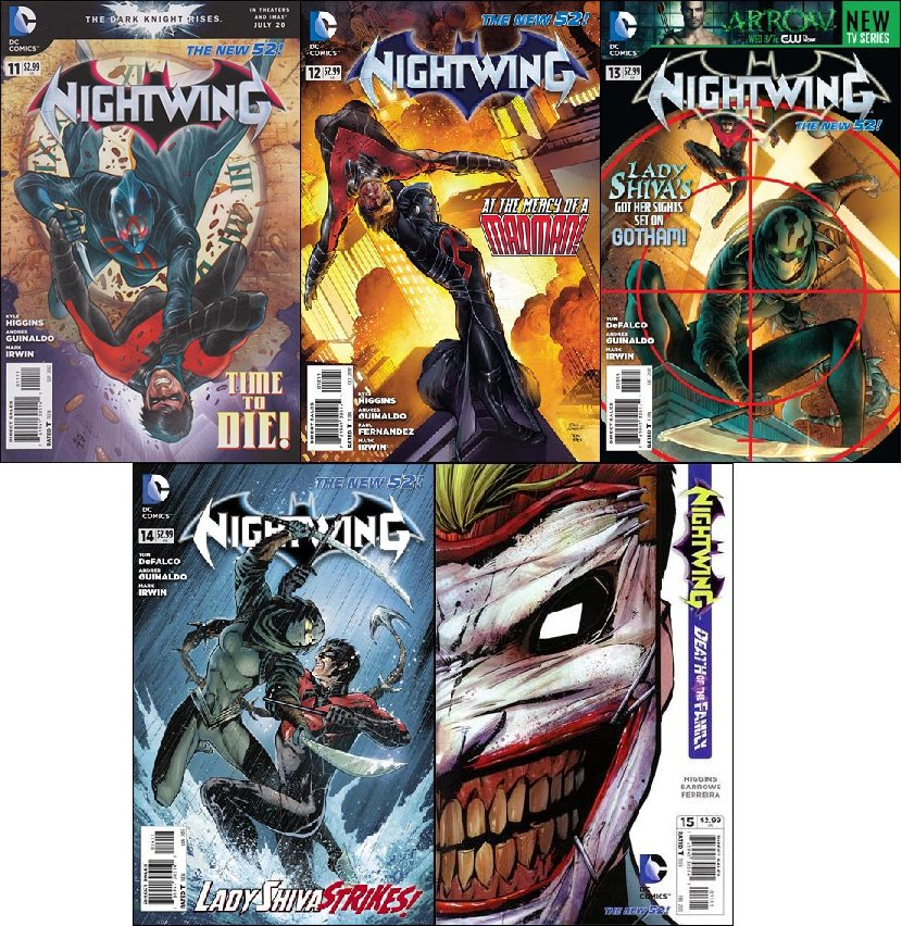 Nightwing #11, 12, 13, 14, 15 (2012) VF/NM *Trade Set!*