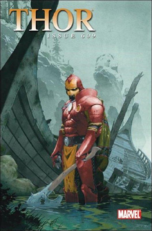 Thor (Vol 1) #609 (2010) 1:15 Esad Ribic Iron Man Viking Variant