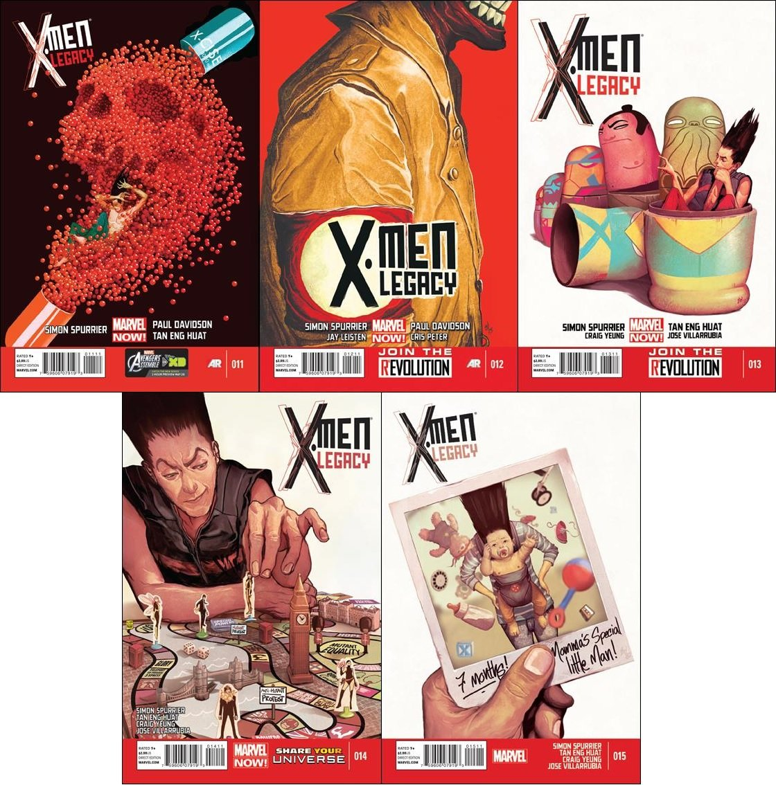 X-Men Legacy (Vol 2) #11 12 13 14 15 (2013) VF/NM *Trade Set*