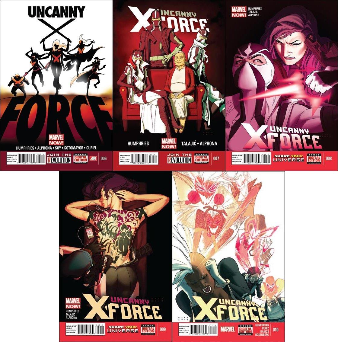 Uncanny X-Force #6 7 8 9 10 [2013] VF/NM *Marvel Now Trade Set*