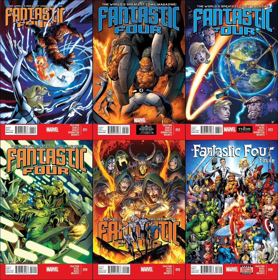 Fantastic Four (Vol 4) #11 12 13 14 15 16 (2013) VF/NM * Marvel Now Trade Set * Series Finale *