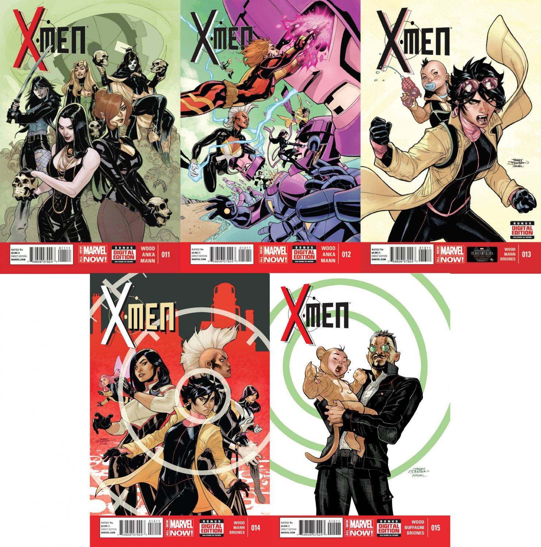 X-Men #11 12 13 14 15 (2013) VF/NM *Marvel Now Trade Set*
