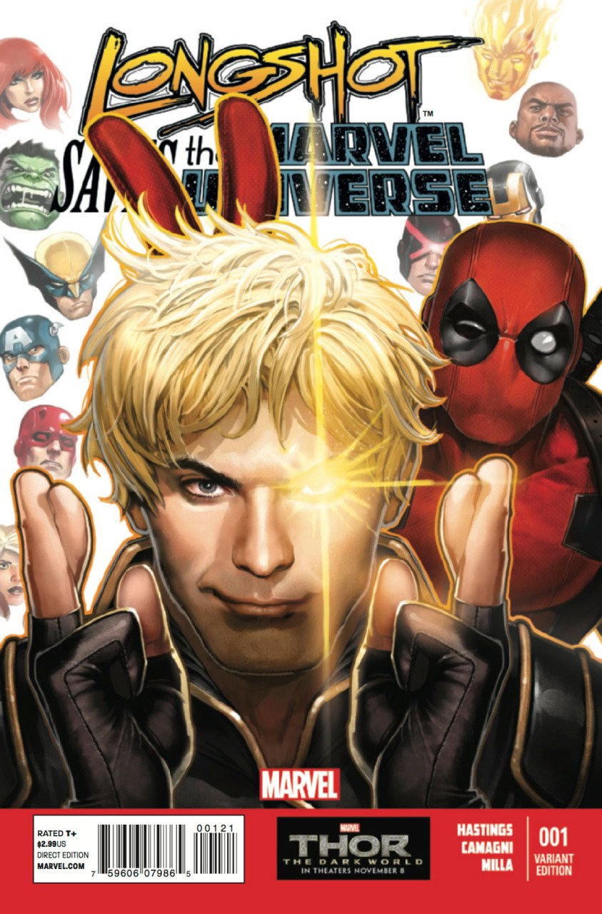 Longshot Saves the Marvel Universe#1 Deadpool variant (2014)