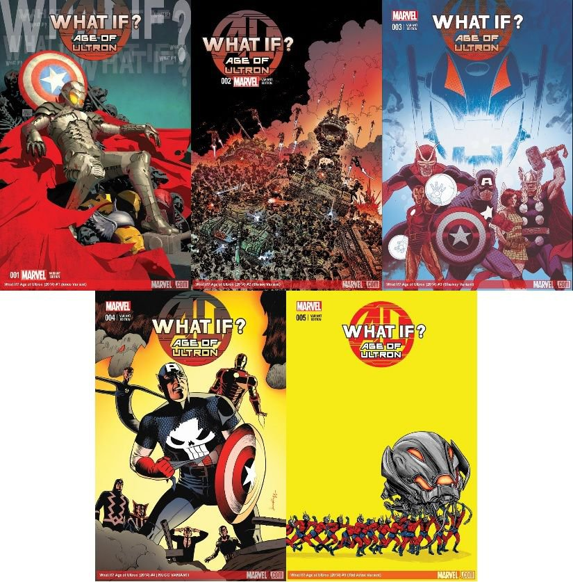 What if? Age of Ultron #1 2 3 4 5 [2013] VF/NM *Variant Edition Trade Set*