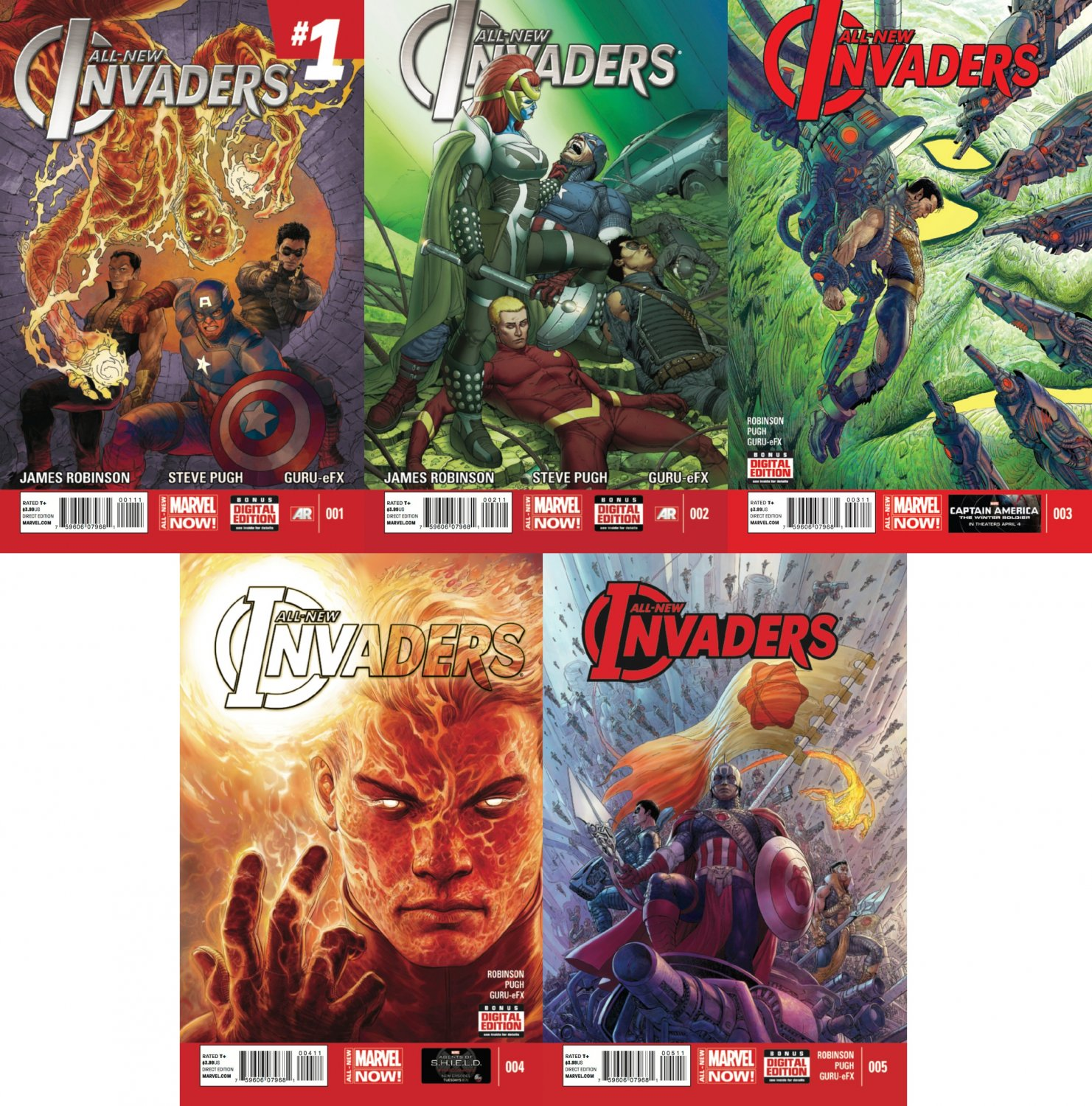 All New Invaders #1 2 3 4 5 [2014] VF/NM  *Marvel Comics Trade Set*