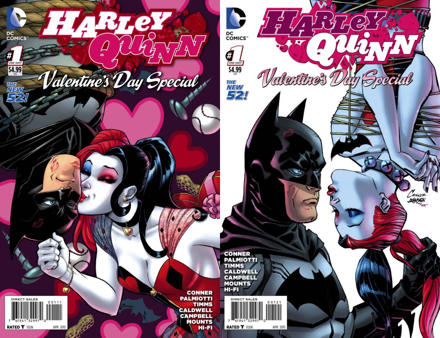 harley quinn valentines day special 1 set of both covers 2015 vfnm dc comics - Valentines Day In Dc