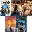 Star Wars #1 2 3 4 5 [2015] VF/NM  Marvel Comics *Trade Set*