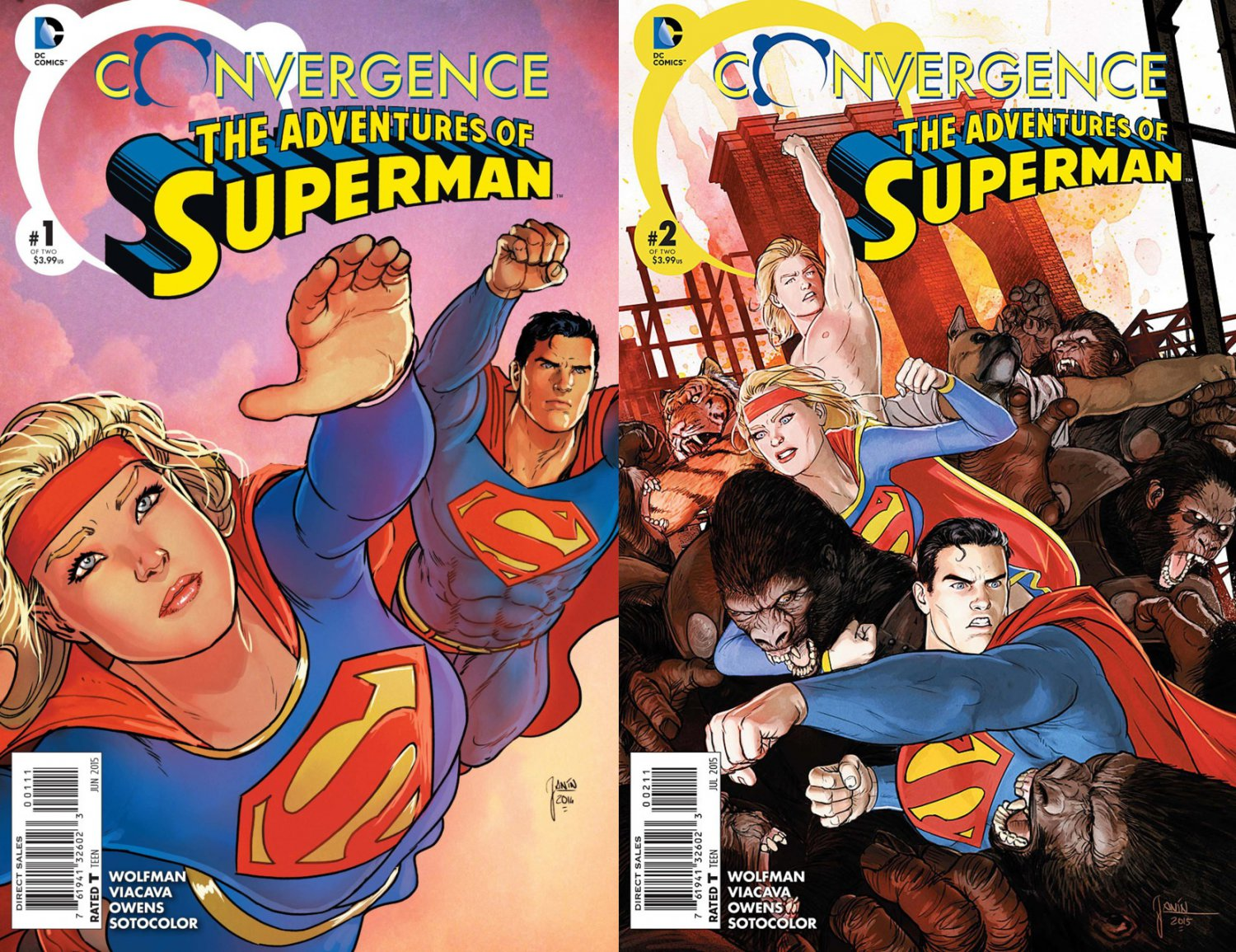 Convergence Adventures of Superman #1 & 2 [2015] VF/NM DC Comics Trade Set