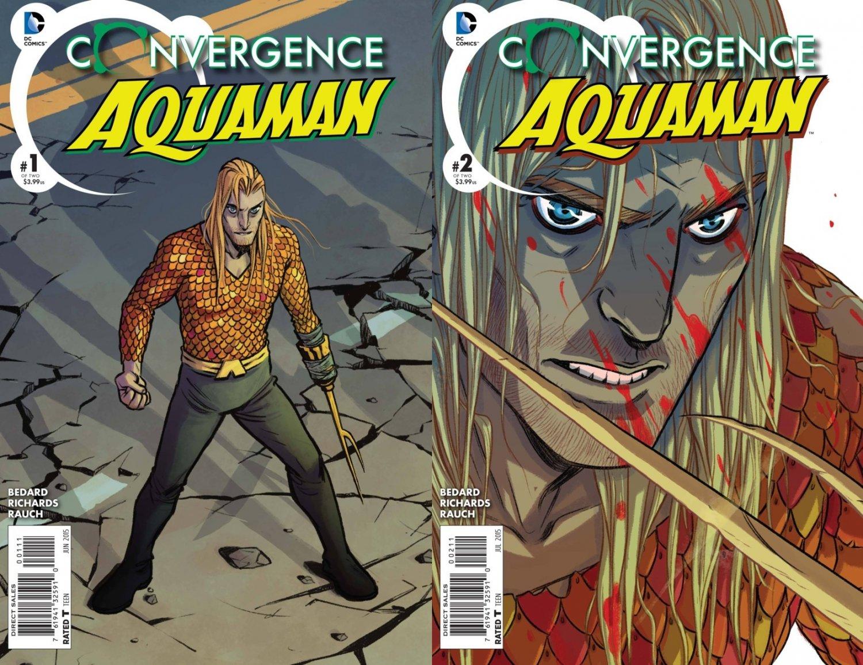 Convergence Aquaman #1 & 2 [2015] VF/NM DC Comics Trade Set