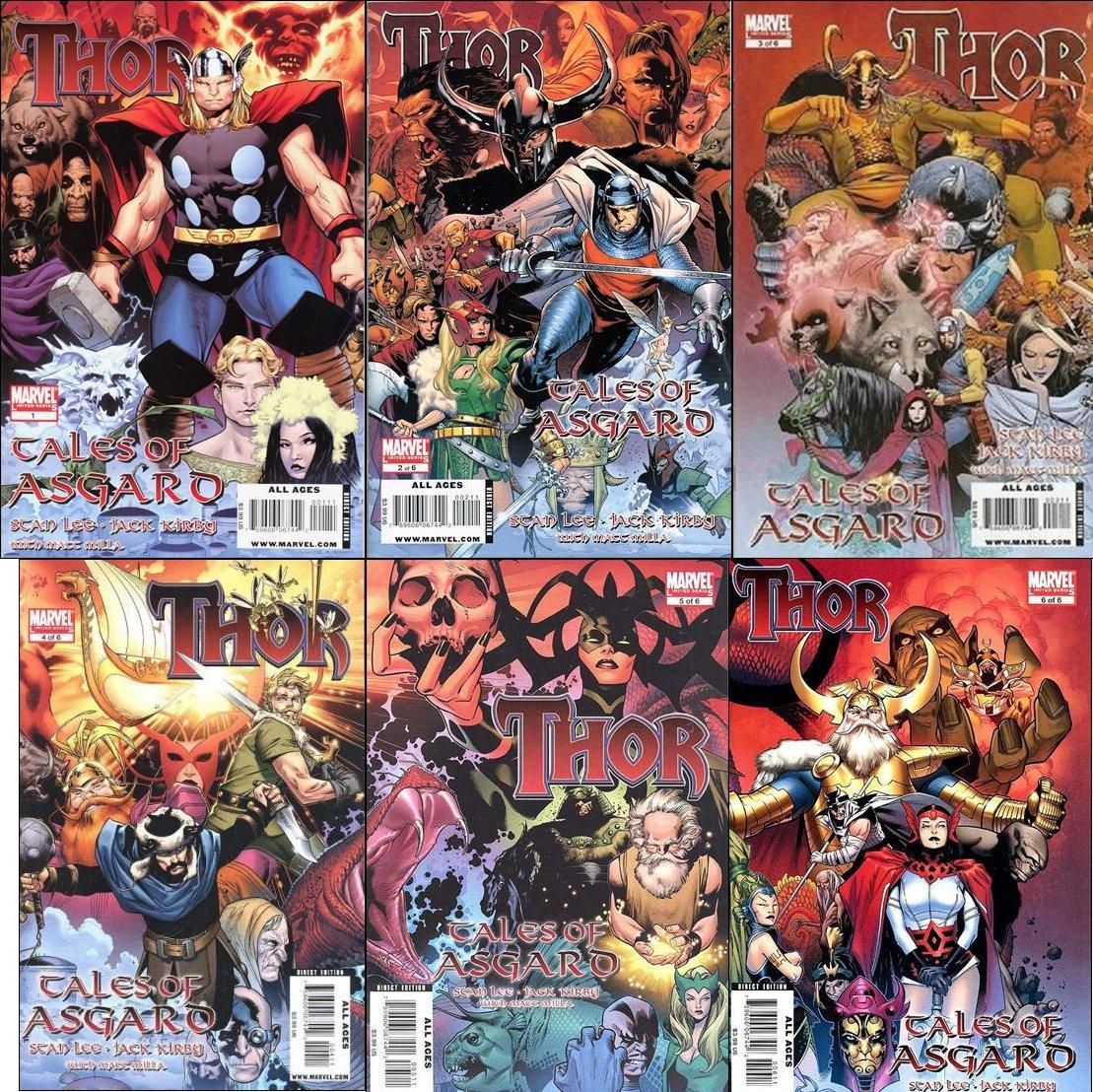 Thor Tales of Asgard Complete Set #1 2 3 4 5 6 [2009] VF/NM Marvel Comics