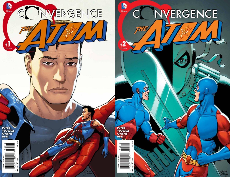 Convergence the Atom #1 & 2 [2015] VF/NM DC Comics Trade Set