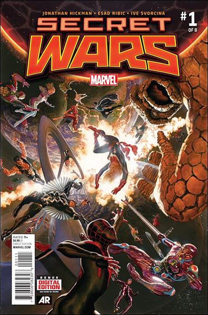 Secret Wars #1 Alex Ross Cover Promotional Lithograph
